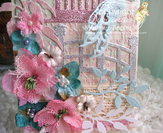 Shabby chic tag detail flowers
