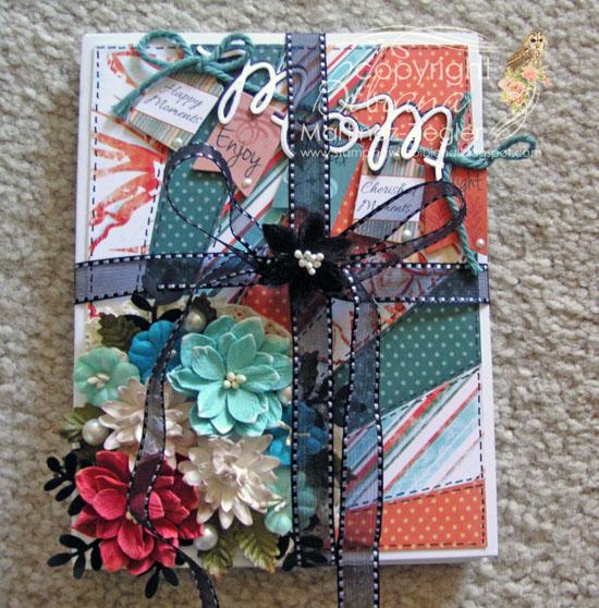 Diagonal gift mom paquet