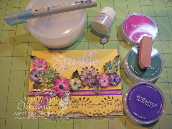 Flowers paintables glitter