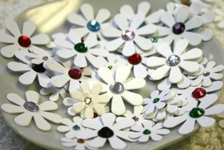 DIY Jewelled Florettes close up