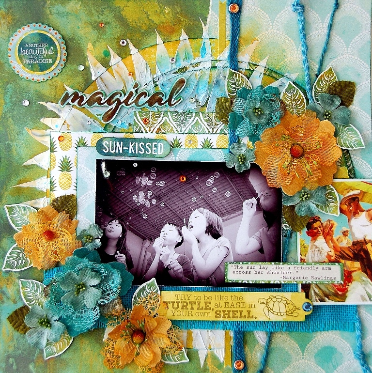 Magical Sun-Kissed Layout by Irene Tan 01