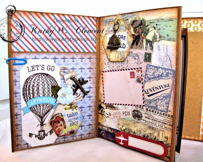 Authentique Petaloo Blog Hop Travel Album 08