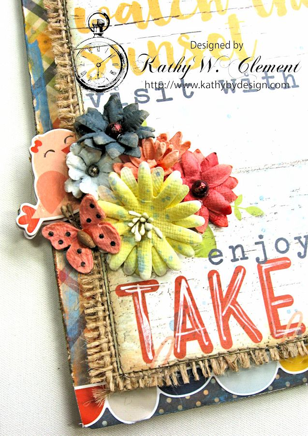 Porch Rules Altered Clipboard  by Kathy Clement Petall Simple Stories Blog Hop Bloom and Grow 05