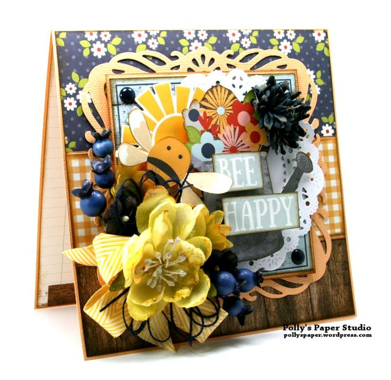 Bee Happy Card Simple Stories Petaloo 4
