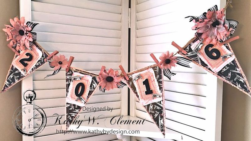 Pink and Black Graduation Banner by Kathy Clement for Petaloo International and Canvas Corp Brands Dads and Grads Blog Hop 02