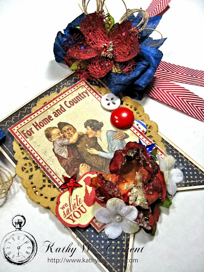 4th of July Banner by Kathy Clement for Petaloo International Product Authentique Honor Photo 8