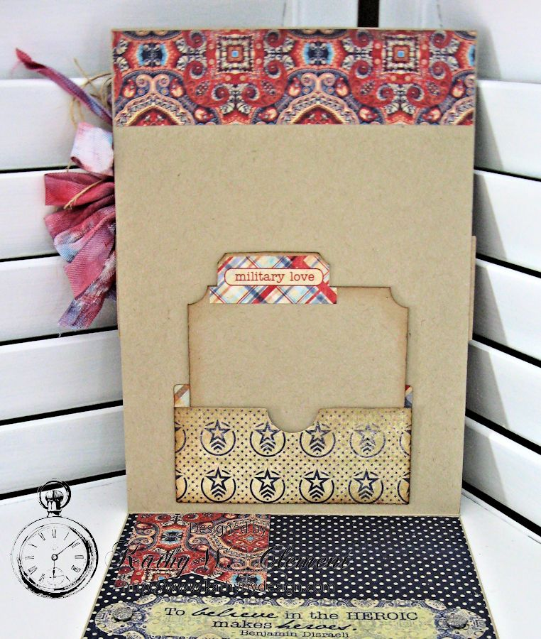 Cherish 4th of July card by Kathy Clement fo Really Reasonable Ribbon Summer Flowers Challenge Product Authentique Honor 05jpg