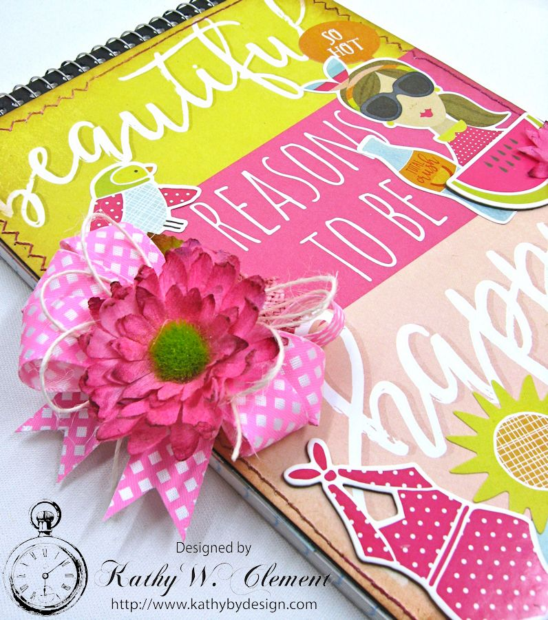 Beautiful Reasons to be Happy Alered Journall by Kathy Clement for Petaloo Summer Fun with Kids Product by Petaloo and Simple Stories Photo 3jpg