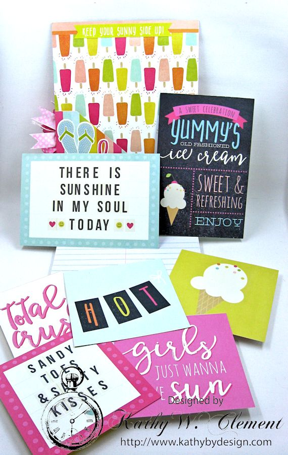 Beautiful Reasons to be Happy Alered Journall by Kathy Clement for Petaloo Summer Fun with Kids Product by Petaloo and Simple Stories Photo 5