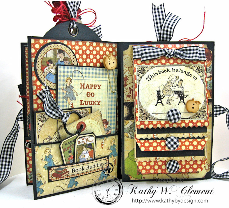 Back to School Mini Album, ABC Primer, By Kathy Clement, Product by Petaloo and Graphic 45 Photo 5