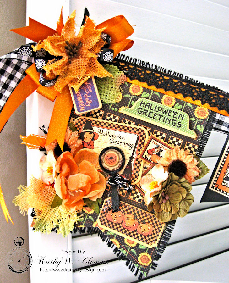 Happy Haunting Halloween Banner, Happy Hauntings, by Kathy Clement for Really Reasonable Ribbon, Product by Graphic 45, Photo 3 jpg