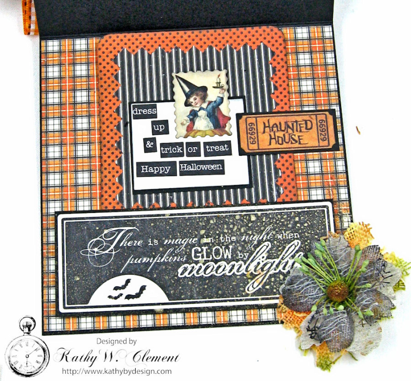 Authentique Mysterious Halloween Easel Card, by Kathy Clement, Product by Petaloo, Photo 2