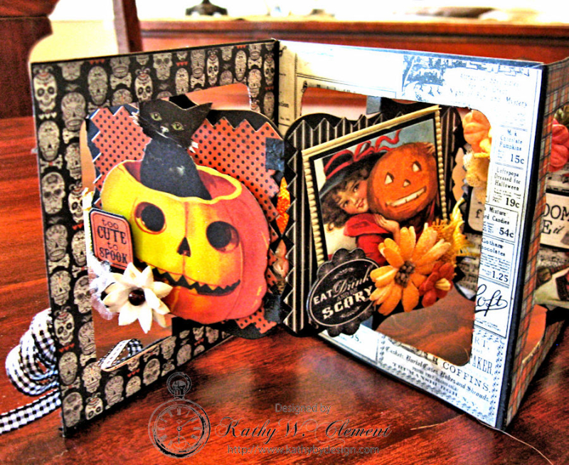 Mysterious Accordion Fold Swing Album, Authentique, by Kathy Clement, Product by Petaloo, Photo 7