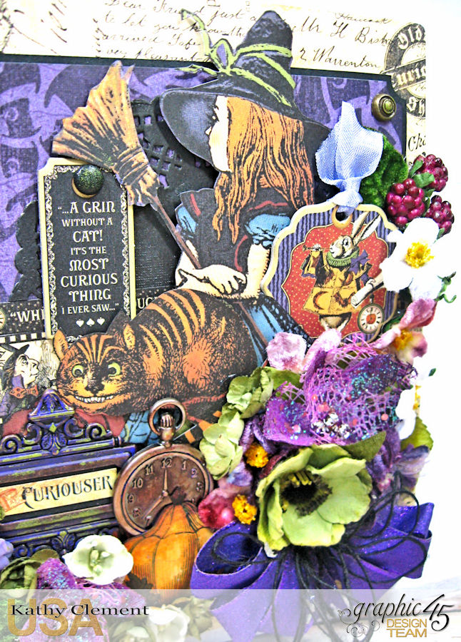 Halloween in Wonderland Mini Album, Halloween in Wonderland, by Kathy Clement,Product by Graphic 45, Photo 2