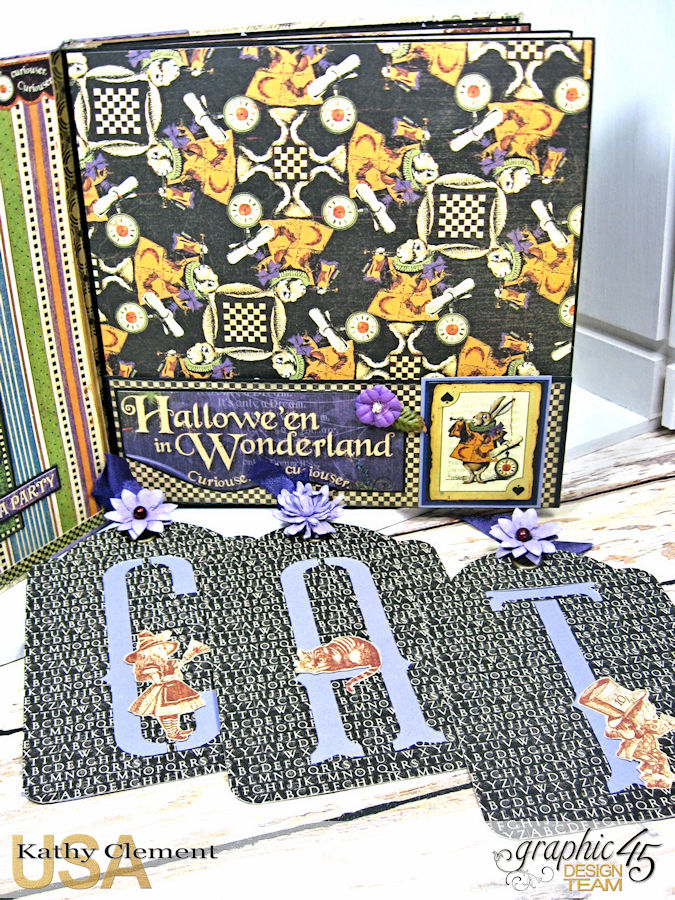 Halloween in Wonderland Mini Album, Halloween in Wonderland, by Kathy Clement,Product by Graphic 45, Photo 9