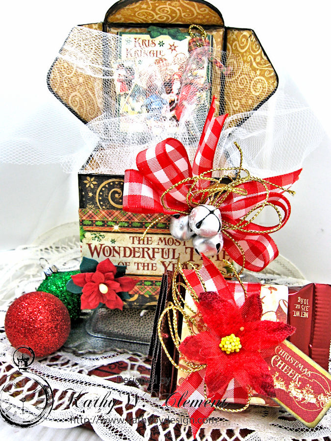 Sweet Treats Chocolate Box, Saint Nicholas, by Kathy Clement for Petaloo G45 Blog Hop, Product by Graphic 45, Photo 4