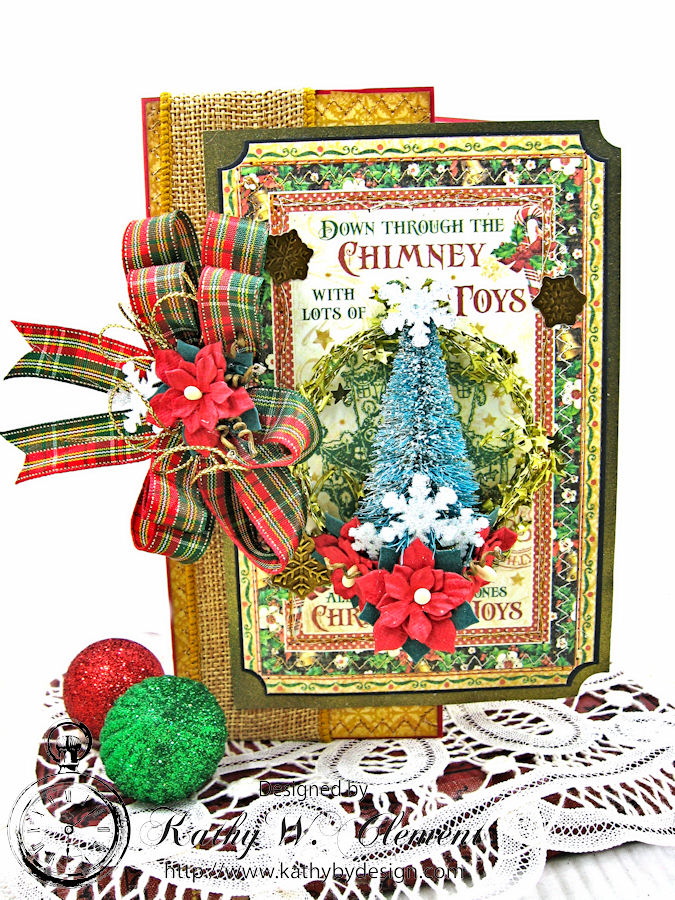Jolly Saint Nick Cutaway Card, Saint Nicholas, by Kathy Clement for Petaloo G45 Blog Hop, Product by Graphic 45, Photo 1