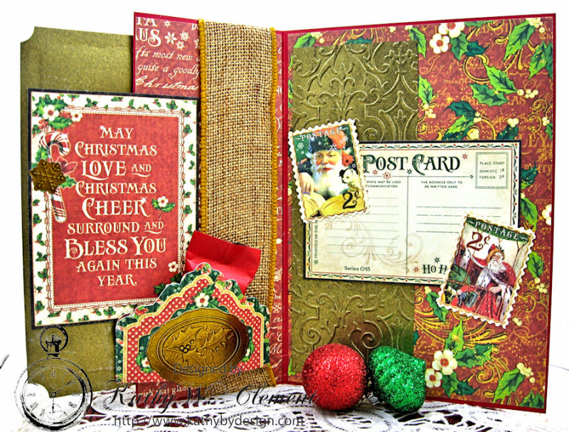 Jolly Saint Nick Cutaway Card, Saint Nicholas, by Kathy Clement for Petaloo G45 Blog Hop, Product by Graphic 45, Photo 2