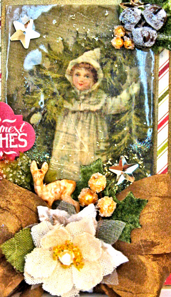 Woodland Christmas Card by Kathy Clement for Petaloo Authentique Blog Hop Photo 3