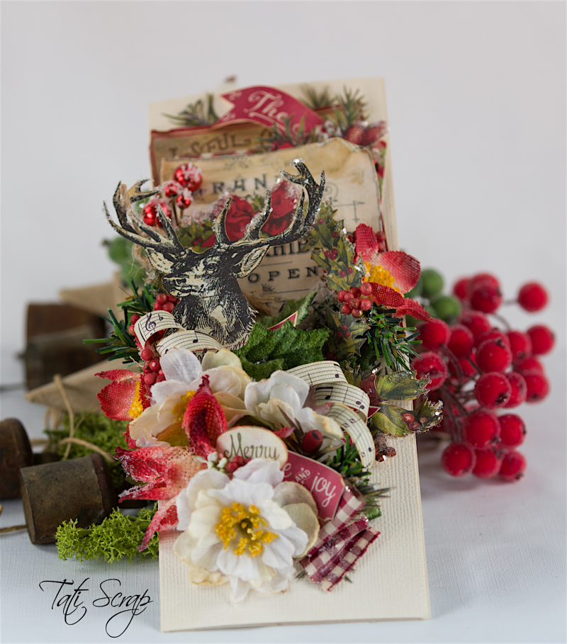 Tati, Christmas card, Petaloo, Authentique Blog Hop,Photo 5