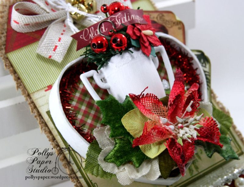 Glad Tidings Trophy Shadow Box Tag Christmas Home Decor Polly's Paper Studio 02