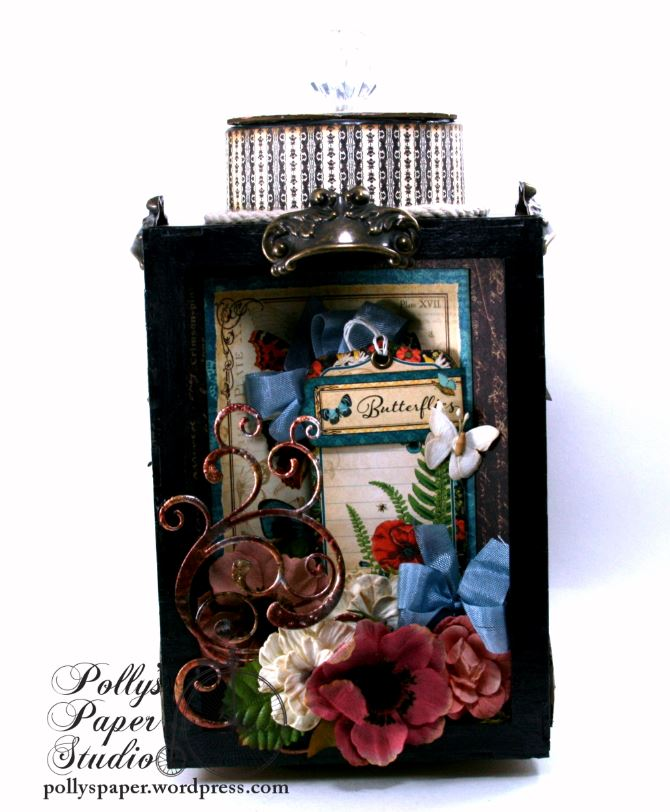 Natures Skethcbook Florals Spinning Shadow Box Display Polly's Paper Studio 05