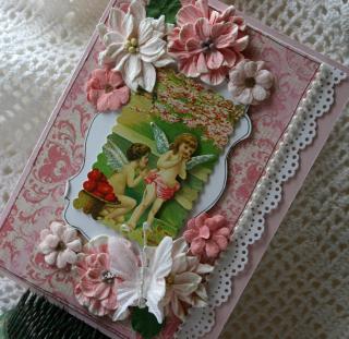 Pink valentine card