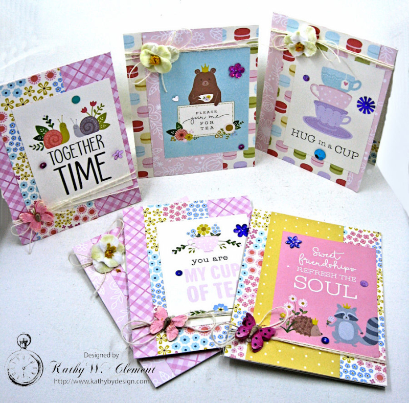 Pebbles Tealightful Notecards by Kathy Clement for Petaloo International Photo 1