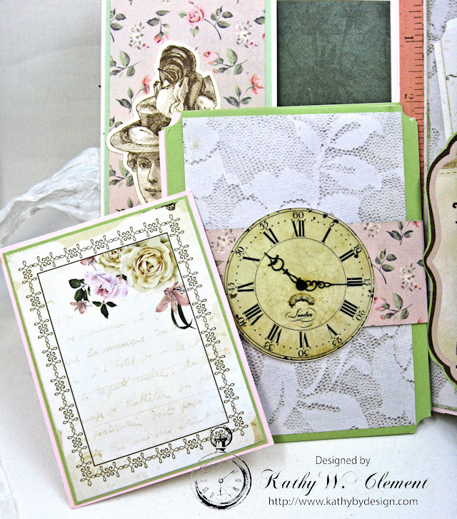 Vintage Style Sewing Themed Folio Mademoiselle by Kathy Clement Product by Kaisercraft and Petaloo Photo 10