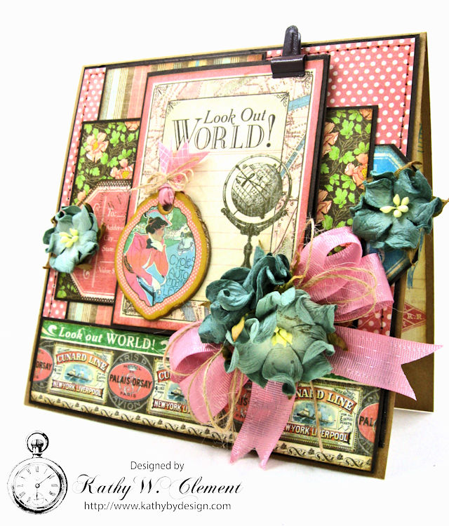 Look Out World Greeting Card with folios Come Away with Me by Kathy Clement Product by Graphic 45 Photo 1