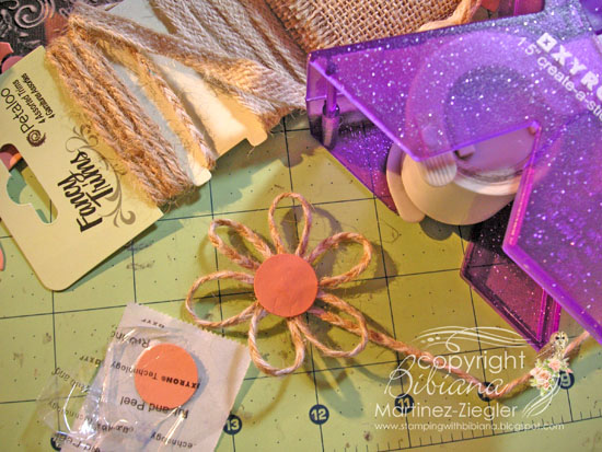 Fall double center step card how to flower
