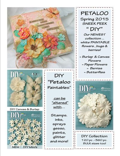 DIY Petaloo Paintables ~ SNEEK Peek 2015