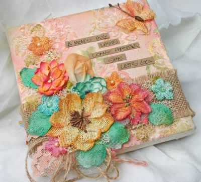 BEAUTY Canvas with DIY Burlap