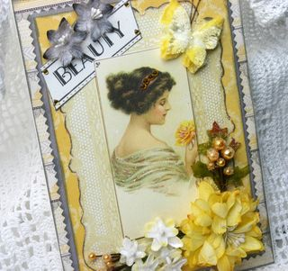 BEAUTY Botanica Authentique Card yellow and grey