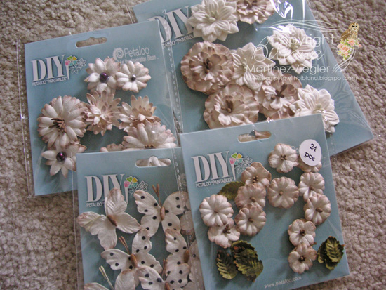 Flowers paintables supplies