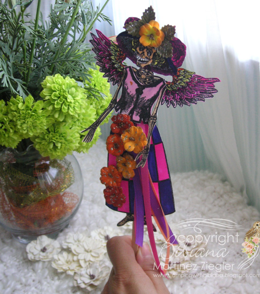 Catrina doll on stick