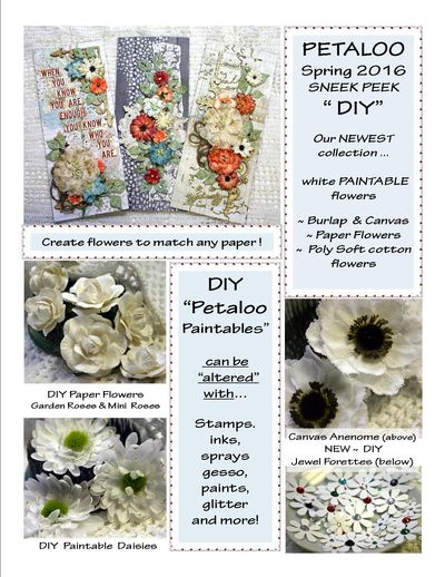 DIY Petaloo Paintables ~ SNEEK Peek 2016