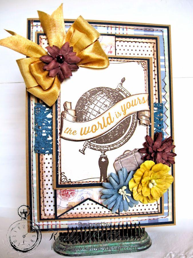 The World is Yours card Petaloo Authentique Blog Hop02