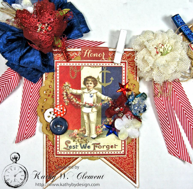 4th of July Banner by Kathy Clement for Petaloo International Product Authentique Honor Photo 3