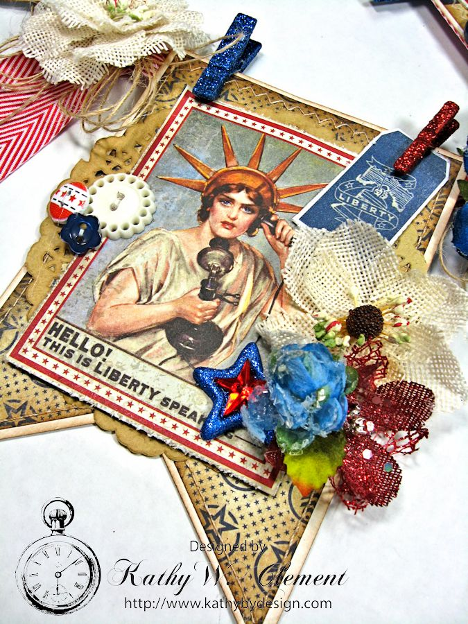 4th of July Banner by Kathy Clement for Petaloo International Product Authentique Honor Photo 4