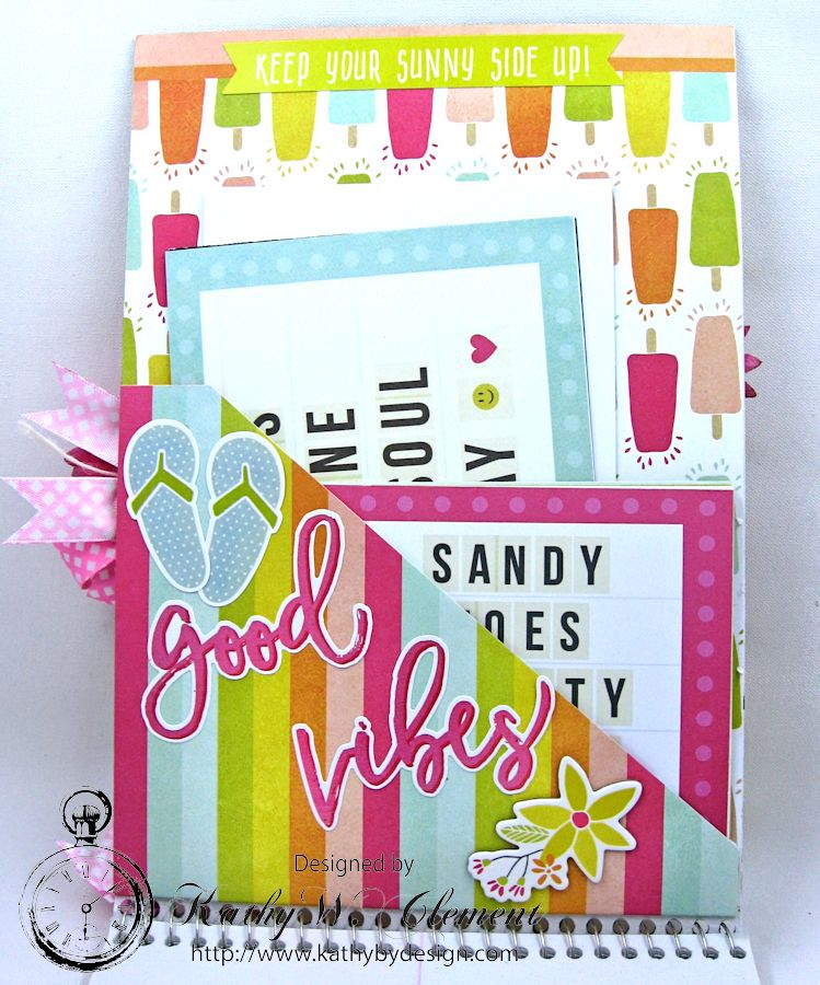 Beautiful Reasons to be Happy Alered Journall by Kathy Clement for Petaloo Summer Fun with Kids Product by Petaloo and Simple Stories Photo 4