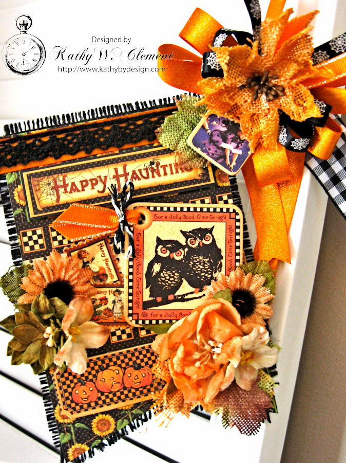 Happy Haunting Halloween Banner, Happy Hauntings, by Kathy Clement for Really Reasonable Ribbon, Product by Graphic 45, Photo 8