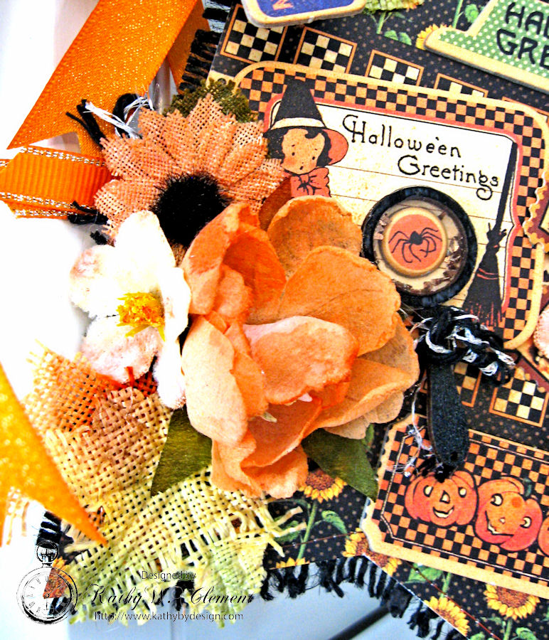 Happy Haunting Halloween Banner, Happy Hauntings, by Kathy Clement for Really Reasonable Ribbon, Product by Graphic 45, Photo 9
