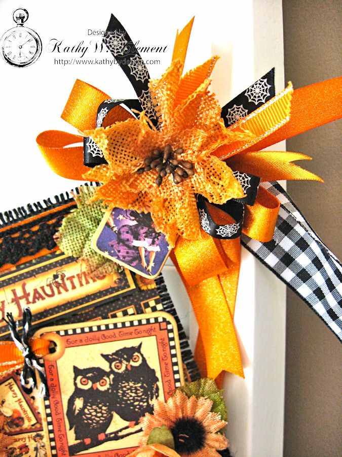Happy Haunting Halloween Banner, Happy Hauntings, by Kathy Clement for Really Reasonable Ribbon, Product by Graphic 45, Photo 13