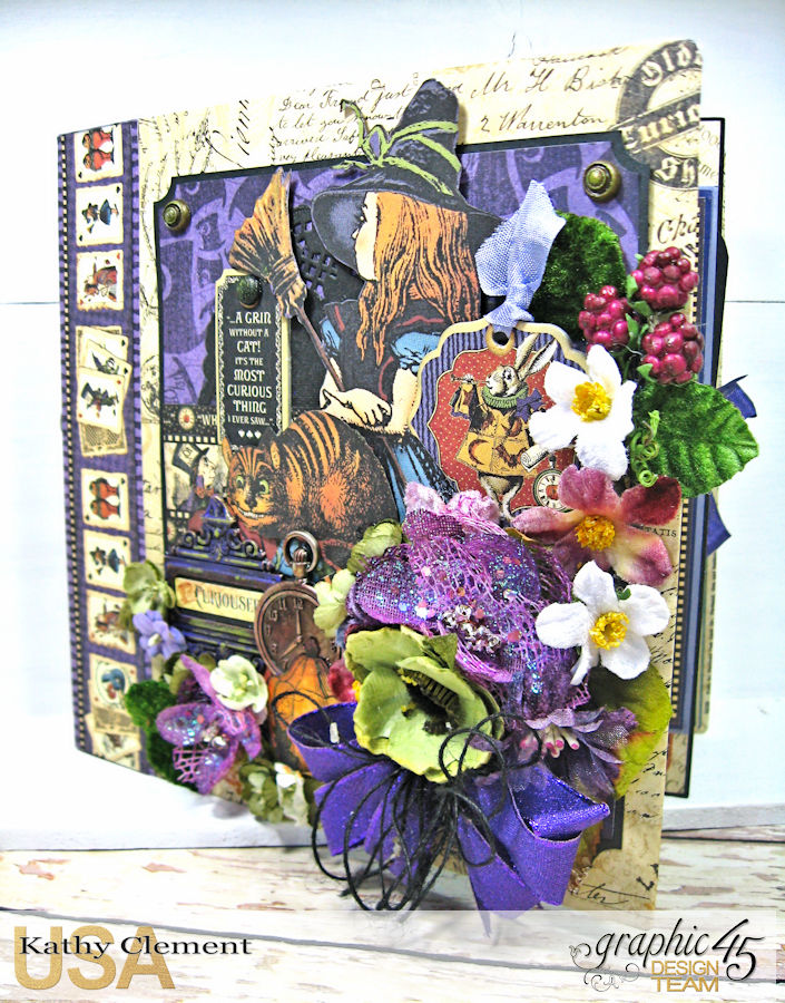 Halloween in Wonderland Mini Album, Halloween in Wonderland, by Kathy Clement,Product by Graphic 45, Photo 1