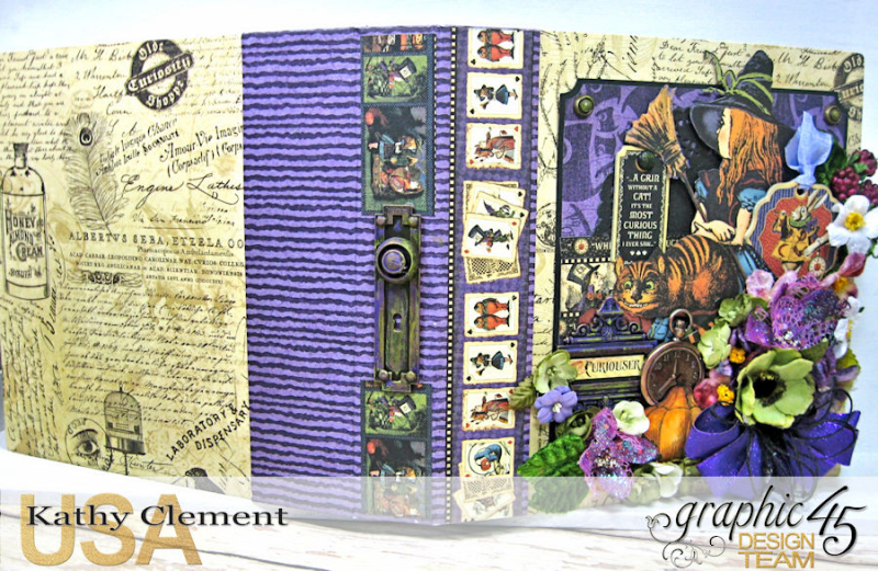 Halloween in Wonderland Mini Album, Halloween in Wonderland, by Kathy Clement,Product by Graphic 45, Photo 3