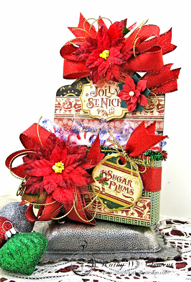 Sugarplum Treats Caddy, Saint Nicholas, by Kathy Clement for Petaloo G45 Blog Hop, Product by Graphic 45, Photo 2
