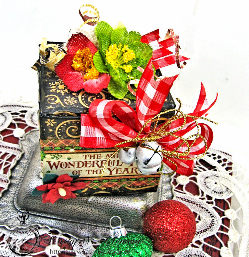 Sweet Treats Chocolate Box, Saint Nicholas, by Kathy Clement for Petaloo G45 Blog Hop, Product by Graphic 45, Photo 2