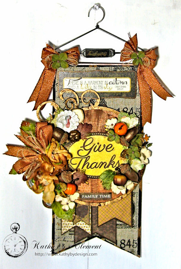 Thankful Banner and Greeting Card, Harvest, by Kathy Clement, Product by Authentique, Photo 1