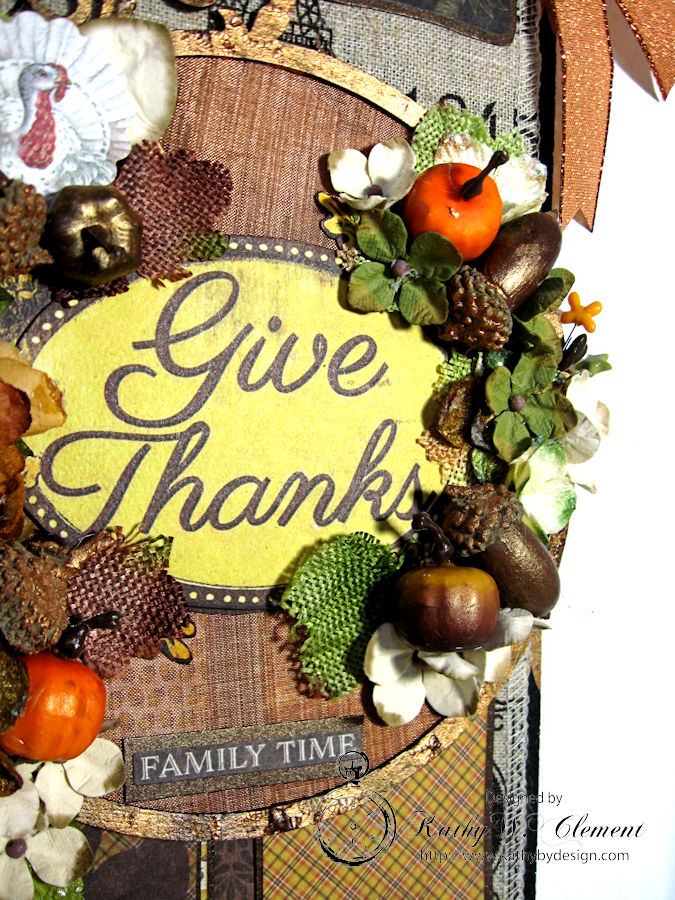 Thankful Banner and Greeting Card, Harvest, by Kathy Clement, Product by Authentique, Photo 4